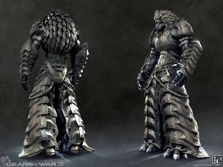 Gears of War 3 - Character Art Dump. Armored Kantus.