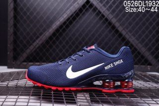 a9f9c480705d81 Mens Nike Air SHOX World Cup Flyknit Navy Blue Red White Running Shoes
