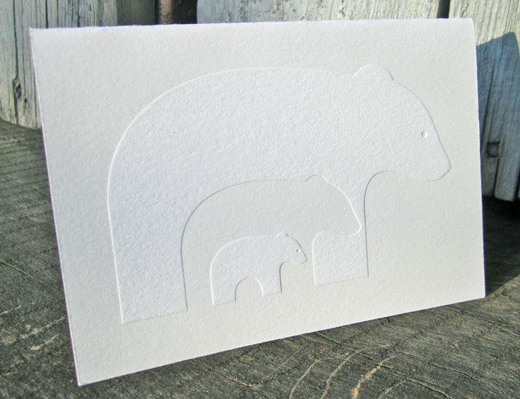 Image of Blissful Bears Letterpress Notecards