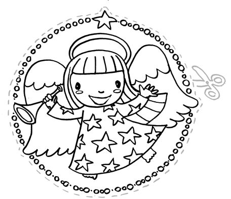 little angel---free printable for kids (C) Lucia Salemi