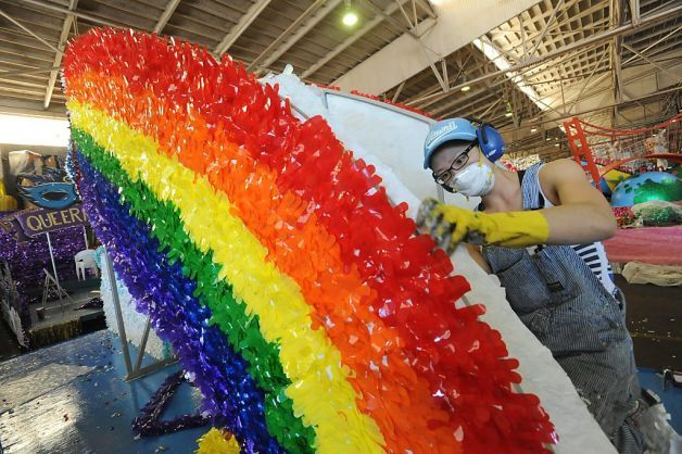 Pride Parade Float Supplies - Pomps and decorations