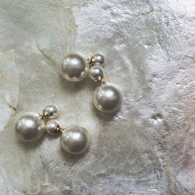 accessoryshopbarzaz rakuten market pearl extra large earrings reversible global stud