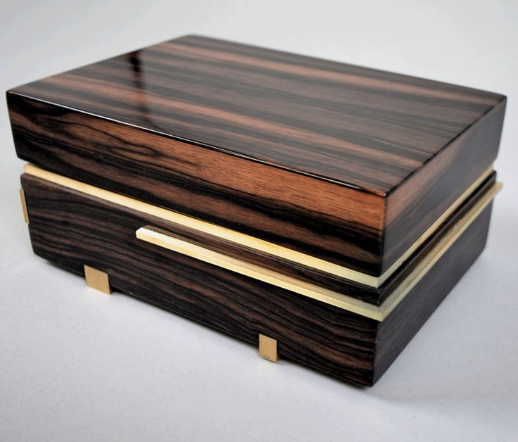 """Caballero""- Macassar Ebony & Brass Gentlemans Box.  By Roi Klifi"
