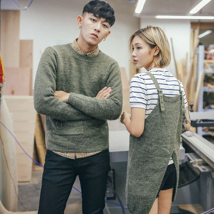 Buy Simpair Couple Matching Sweater / Knit Pinafore Tunic at YesStyle.com! Quality products at remarkable prices. FREE Worldwide Shipping available!