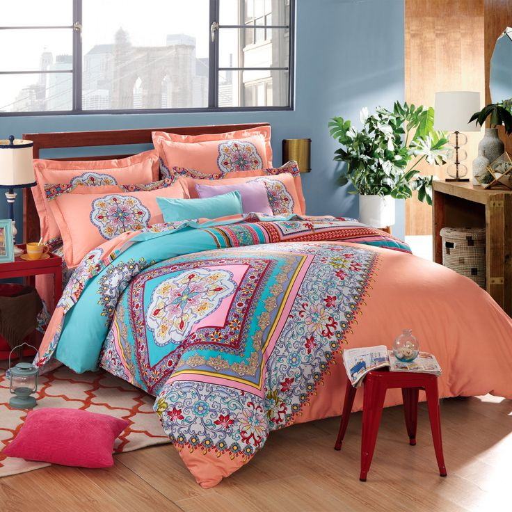 Beautiful Bohemian Comforter With Luxury Colors For Bedding Sets: Admirable  Bohemian Comforter With Twin Full
