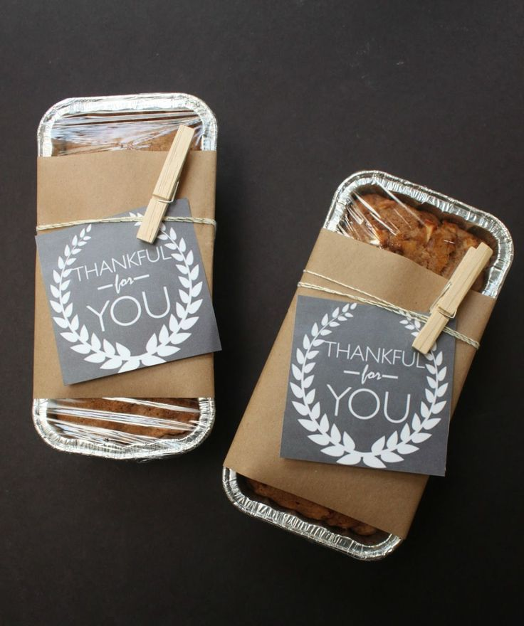 For the neighbors - use disposable pans, wrap with Christmas paper and a tag! I have twine and small clothespins even!