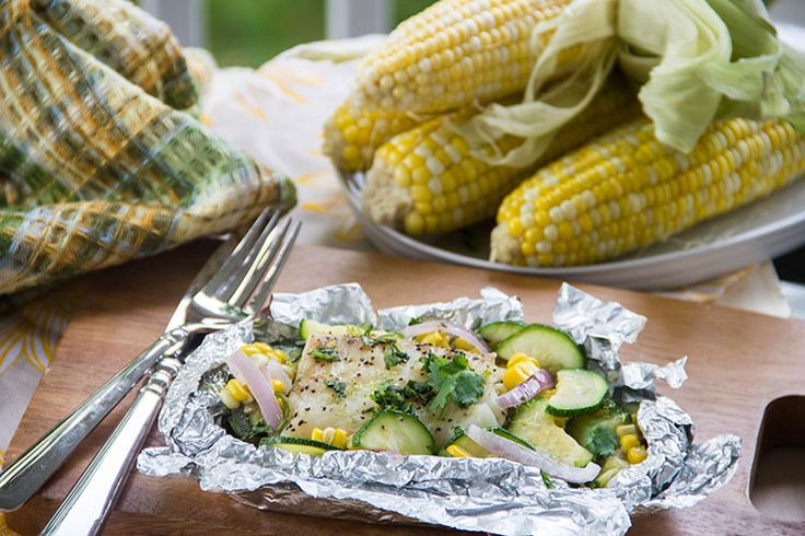 Summer Grilled Coconut-Lime White Fish Packets via @scrumptuspumpkn