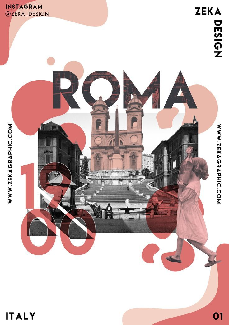 Rome Graphic Poster Design Italy Collection By Zeka Design Vintage Graphic Design Graphic Design Projects Vintage Poster Design