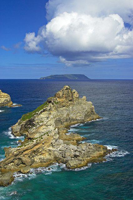 La Désirade from Pointe des Châteaux, Guadeloupe