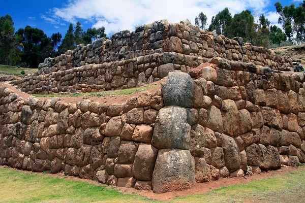 Corner-stones at the Chinchero Ruins.
