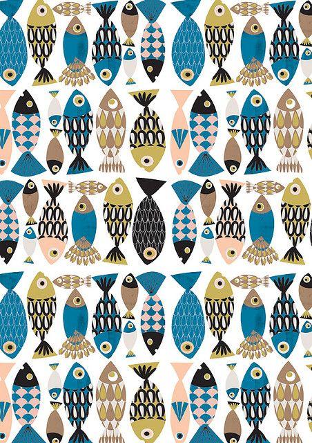 Check it out, @Ayako Okano! It's fish plus patterns.  // Fish Pattern by Tsk Tsk