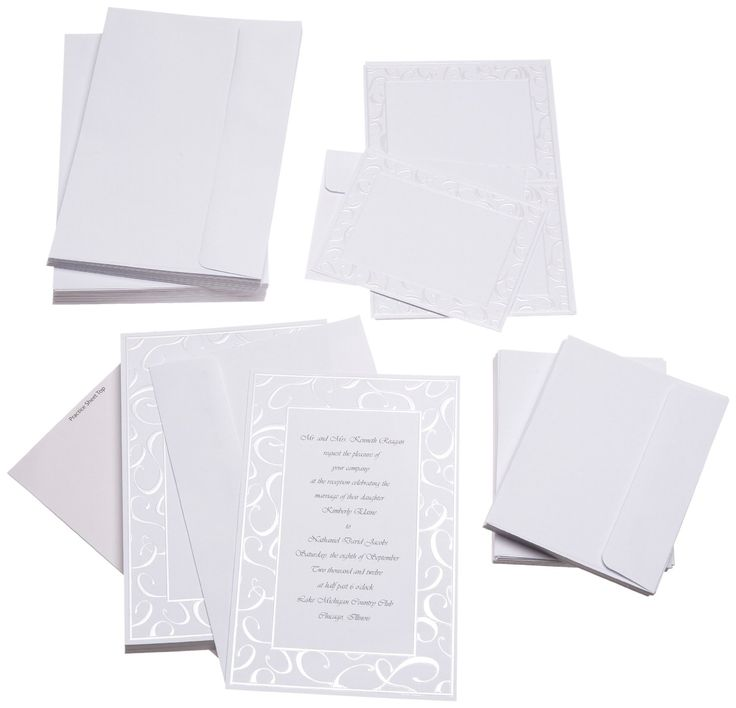 cheap wedding invitations for 20 kit includes 50 With cheap wedding invitations with envelopes