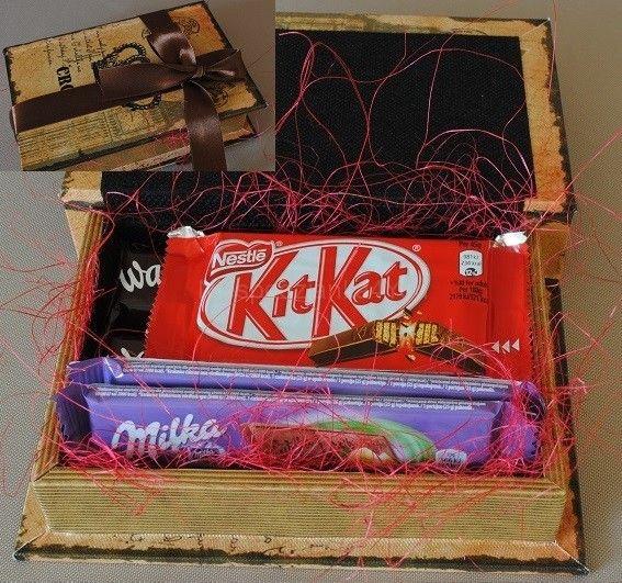 Pudełko: książka ze słodyczami Niespodzianka4You
