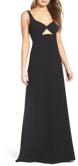 Women's Jill Jill Stuart Cutout Crepe Gown - Black Tie Wedding Guest Dress Idea - Prom Dress Ideas