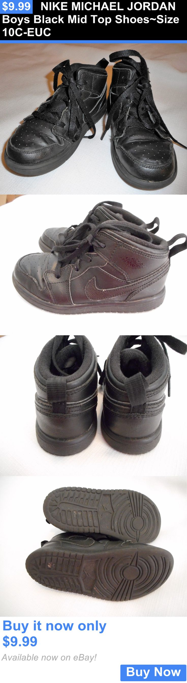 Michael Jordan Baby Clothing: Nike Michael Jordan Boys Black Mid Top Shoes~Size 10C-Euc BUY IT NOW ONLY: $9.99