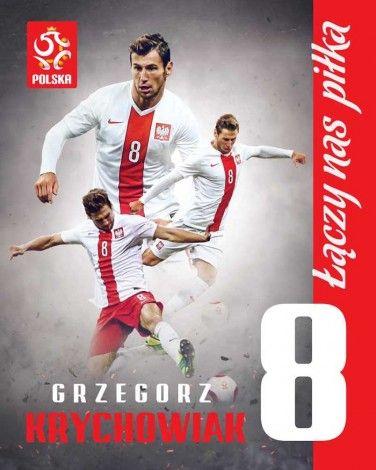 Grzegorz Krychowiak 8 - plakat - 40x50 cm  Gdzie kupić? www.eplakaty.pl