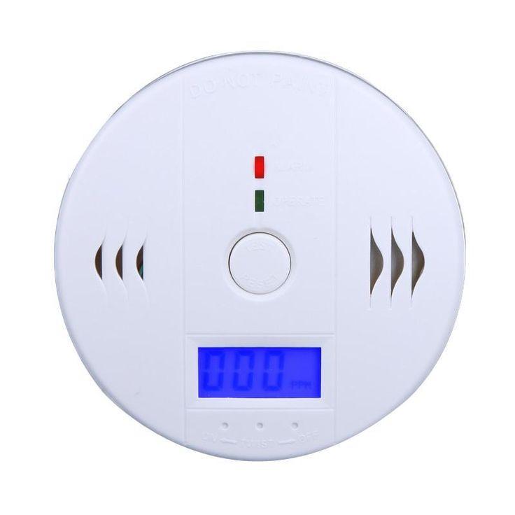High Sensitive LCD Carbon Monoxide Detector Tester Fire Alarm Monitor Smoke CO Sensor Detector For Home Security Safety