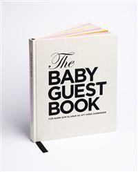 I The Baby Guest Book får för första gången gästerna själva säga några sanningens ord till barnet de besöker. Över två uppslag får varje besökande vän eller släkting dela med sig av sin djupa kunskap om livet. Här får de bland annat chansen att säga sanningen om yrkeslivet, berätta en ärlig anekdot om barnets föräldrar, tipsa om sånt man absolut inte får missa, samt ge sin syn på det som kallas kärlek. En bok fylld av ovärderlig kunskap, och kanske den bästa utbildning ett barn någonsin kan…