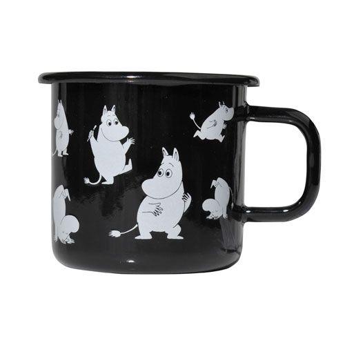 Muurla Moomintroll Black Retro Mug