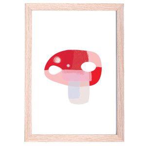 Woodland Nursery Mushroom Art Print
