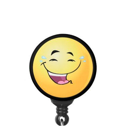 #Laughter Emoji Name Badge Holder - #office #gifts #giftideas #business