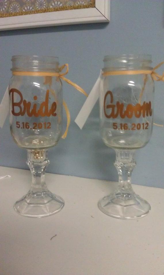 17 best images about redneck wine glasses on pinterest jars beer mugs and glasses - Mason jar goblets ...