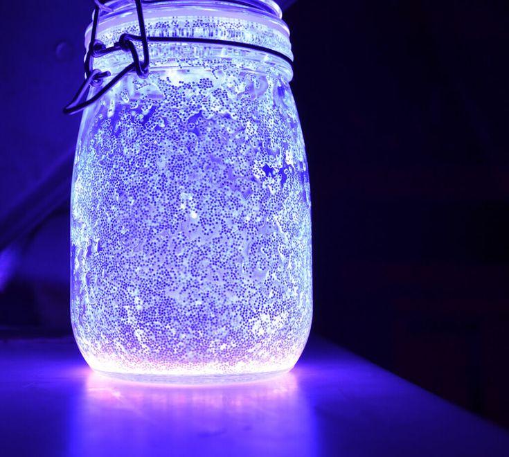 DIY Fairy Glow Jars 4. Purple