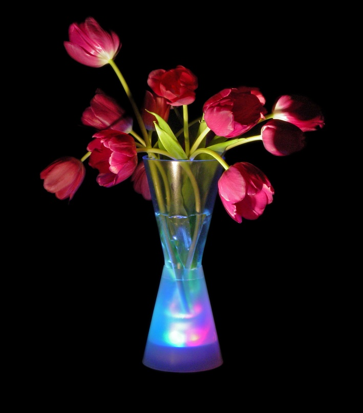 Lighted vases for centerpieces graffiti urban music