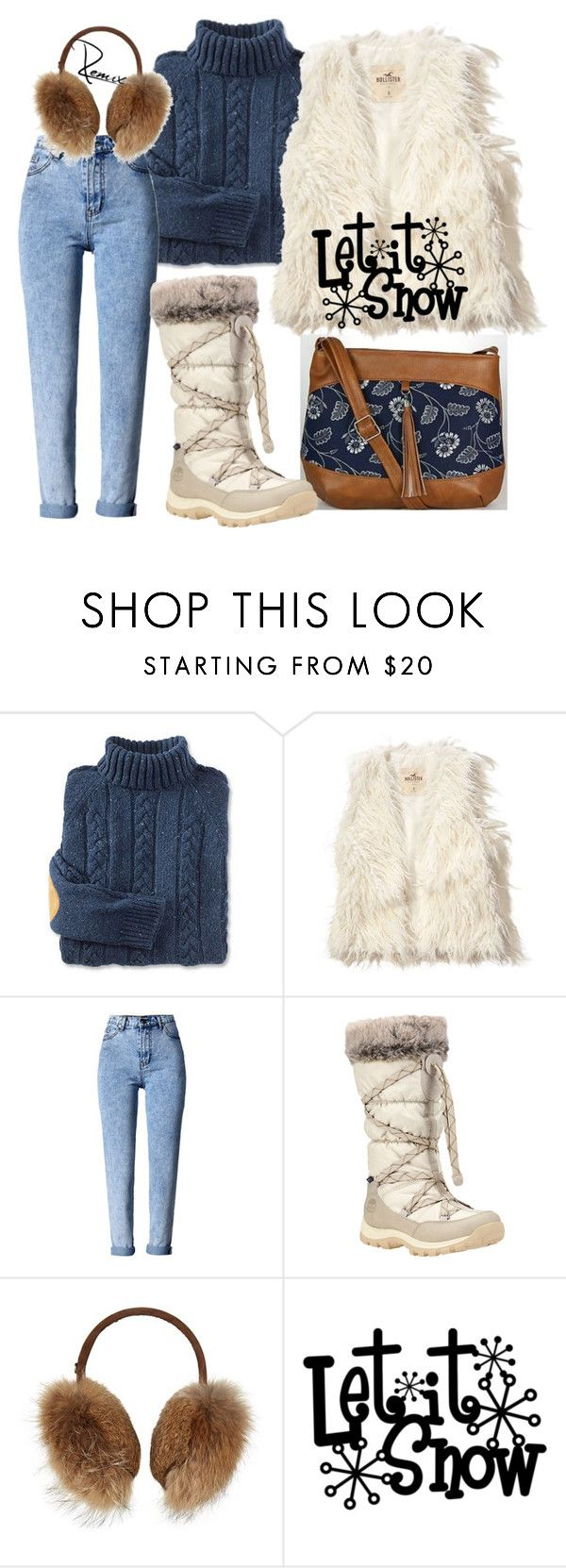 """Let it snow"" by aleva on Polyvore featuring Hollister Co., WithChic, Timberland and Bogner"