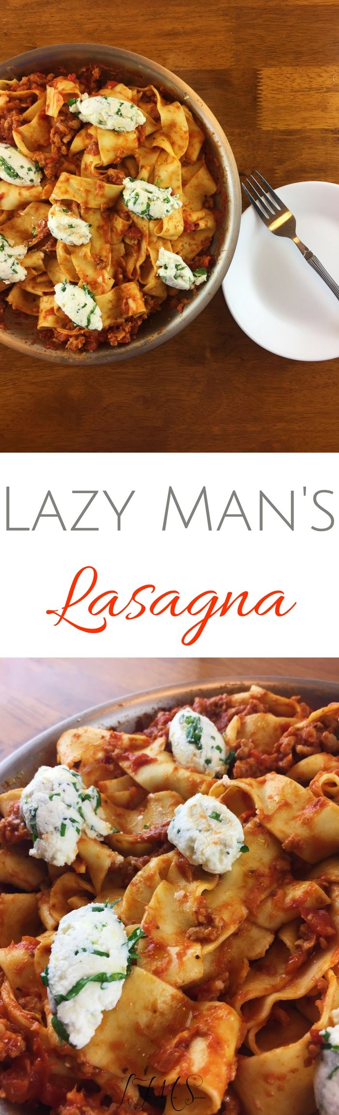 I get that some of you might be in the same plight, so I wanted to offer you an alternative that I love oh so much. Please say hello to Lazy Man's Lasagna