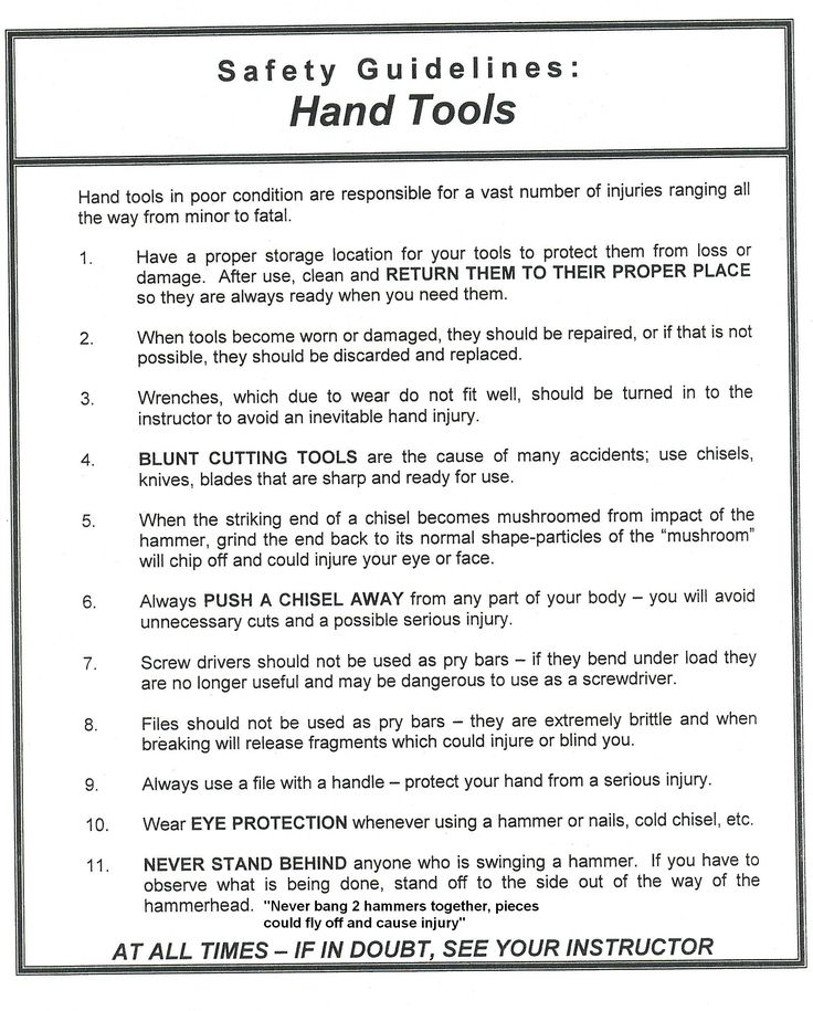 Pin By Jan Burger On Safety Signs Hand Tools Safety
