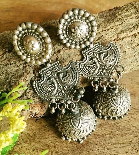 Artisan solid sterling silver artisan handmade earrings