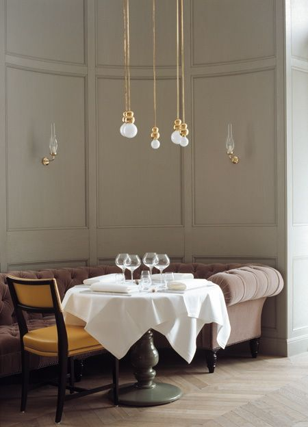 Dining area - Ilse Crawford Matsalen Matbaren restaurants, Grand Hotel Stockholm, Sweden