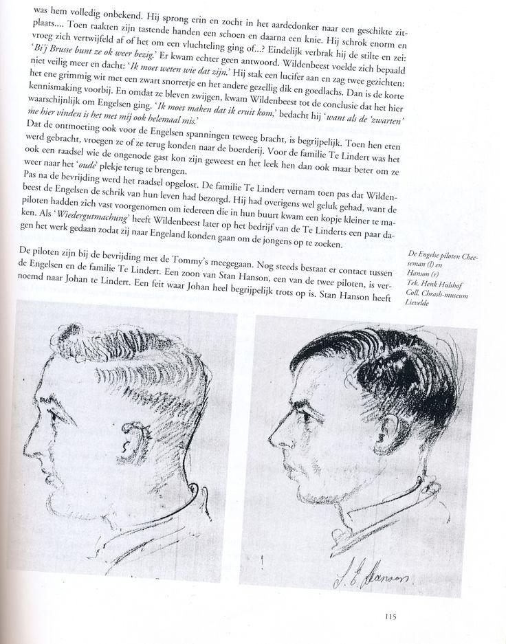 Cheeseman en Hanson, onderduikers bij familie Te Lintdert op 'Bosman' in Barlo-Aalten. Boek Stan Hanson 'Sprong in het duister'.