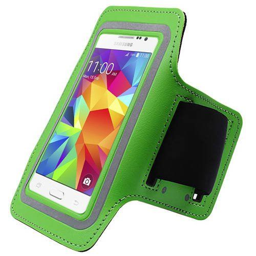 Green ArmBand Workout Case Cover For Samsung Galaxy Core Prime G360P with Free Pouch. Light-weight high quality material. Perfect fit. Very Comfortable. Built in Screen Protector. One Size fits all.