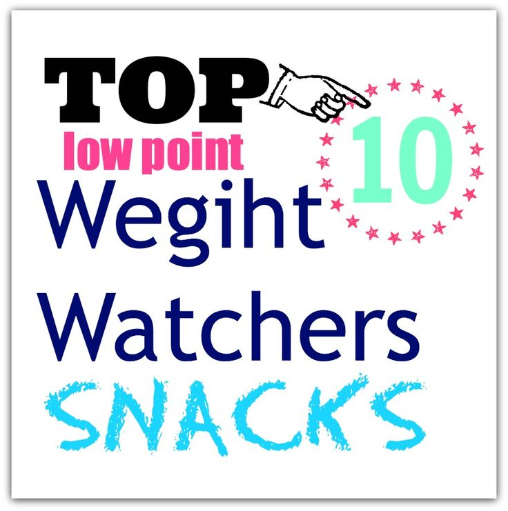 TOP 10 Low Point Weight Watchers Snacks....even though it bugs me that it's misspelled! ;)