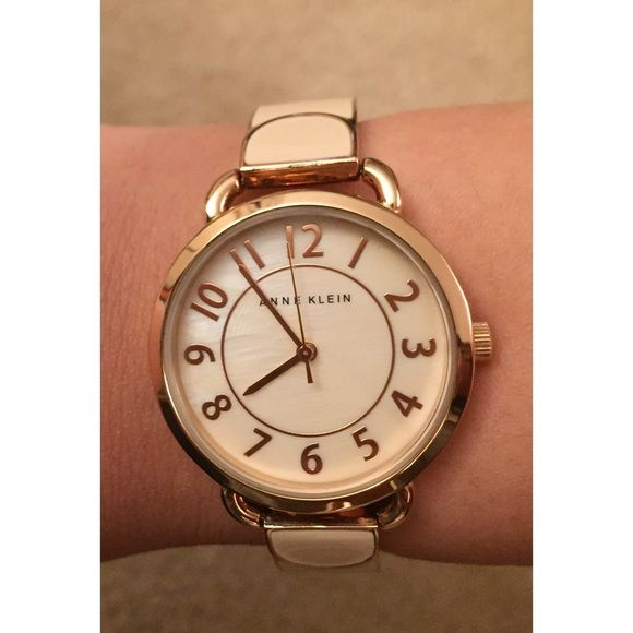 SALE NEW Anne Klein Watch New with tag. Adjusted to fit petite wrist, 17cm wrist circumference. Didn't end up using it. Very cute and classic! Comes with original box and extra links. Anne Klein Accessories Watches