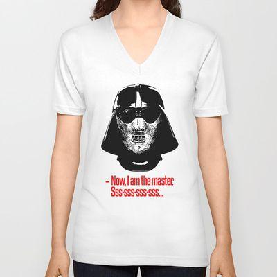 Darth Lecter/Hannibal Vader V-neck T-shirt by VINSPIRO - $24.00