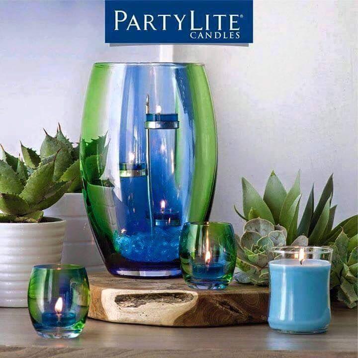 Von Hand gefertigt ist jedes Windlichtglas ein Unikat..Blaue Agave Frühlingszauber