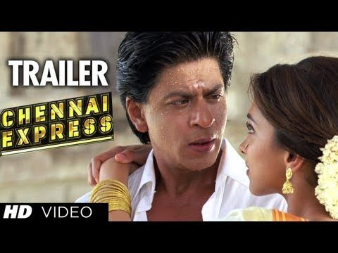 """""""Chennai Express Trailer"""" (Official)   ShahRukh Khan, Deepika Padukone. In the trailer for """"Chennai Express"""" we there will be a lot of romance - keeping Shah Rukh Khan  in mind - but it will also be a typical Rohit Shetty film with cars blowing up and lots of action. #Bollywood"""