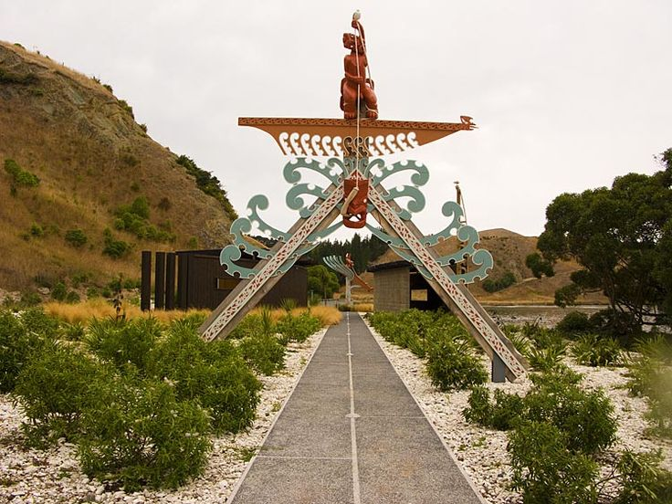 This is the maori portal at the start of the cliff top walk, which takes you from the north side of the Kaikoura peninsula to the south side,  see more at New Zealand Journeys app for iPad www.gopix.co.nz