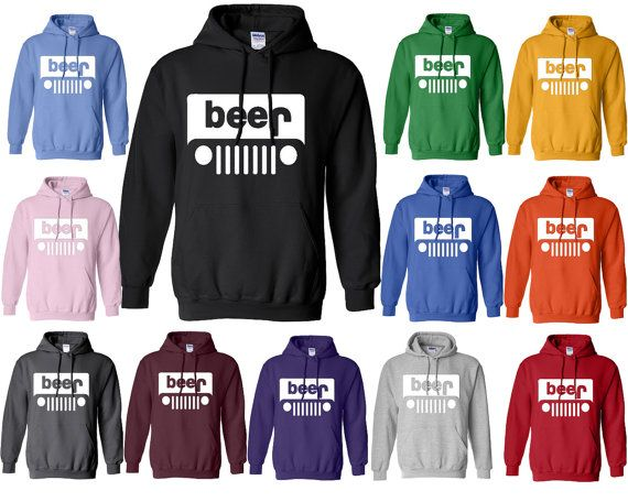 Beer or Jeep Hoodie Funny Parody Logo Beer Jeep by crazydaisyworld