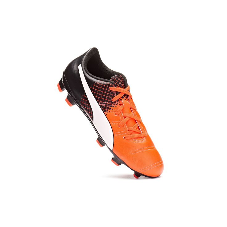 PUMA Evopower 4.3 Tricks Firm-Ground Jr. Kids' Soccer Cleats, Kids Unisex, Size: 11, Orange, Durable
