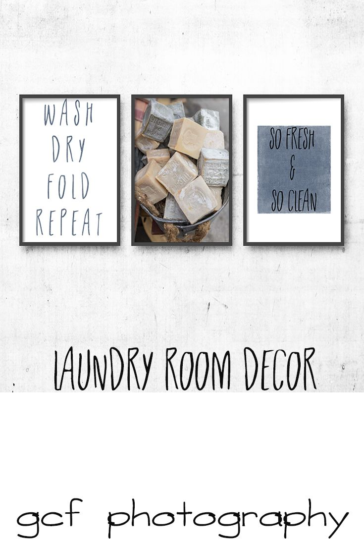 Laundry Room Decor, Laundry Room Art, Set of 3 prints, Bath Soap Print, Washroom Art, French Market Soaps Photograph, wash dry fold repeat