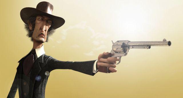 Cowboy Picture (3d, Caricature, Cowboy, Wild West