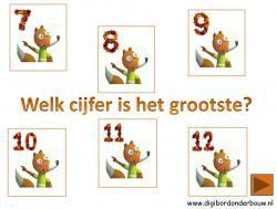 Digibordles: Ritseldans en notentaart Welk cijfer is het grootst? http://digibordonderbouw.nl/index.php/themas/herfst/ritseldans
