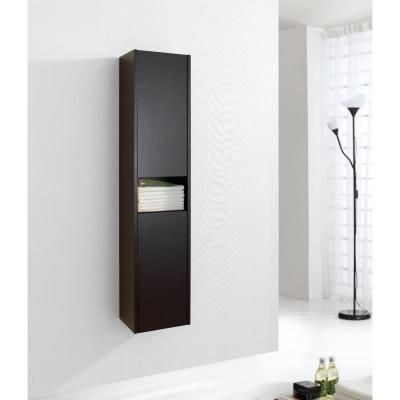 Virtu USA Delmore 11-6/8 in. W x 8-7/8 in. D x 55-1/10 in. H Bathroom Wall Cabinet in Espresso-ESC-621-ES at The Home Depot