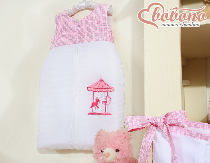 "Pink sleeping bag ""Carousel"" / Bobono"