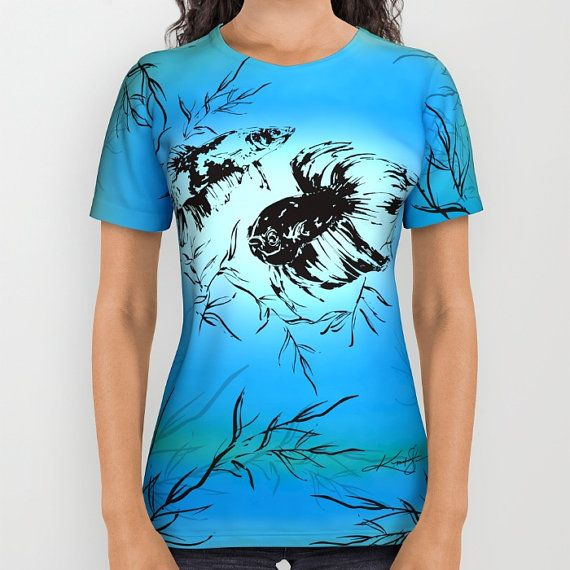 Blue, Abstract Shirt - Ladies, mens, Unisex, Original abstract Painting