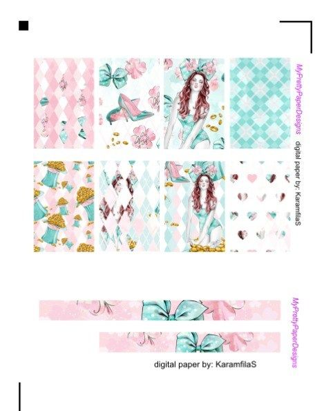 Free Printable St. Patricks Freckles Girl Planner Stickers from My Pretty Paper Designs